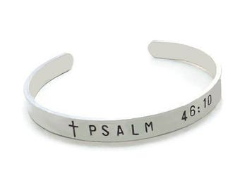 Bible Verse Cuff Bracelet, Aluminum Bible Verse Bracelet, Choose Bible Verse, Christian Cuff Bracelet, Religious Bracelet, Spiritual Cuff