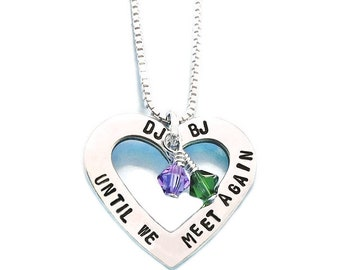 Memorial Necklace, In Memory Pendant, Sorry for your Loss, Until We Meet Again, Memorial Gift for Widow, Husband or Wife Death