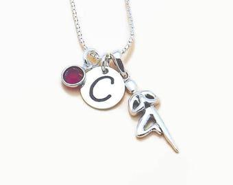 Yoga Initial Personalized Charm Necklace, Yogi Instructor Gift, Tree Pose Charm Pendant, Namaste, Om, Hand Stamped