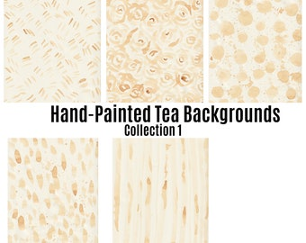 Hand-painted Tea Stained/Medium to Heavy Stain Coffee Stained Paper/Grungy Stained Paper, Ephemera, Junk Journals, Stationary/Digital Paper