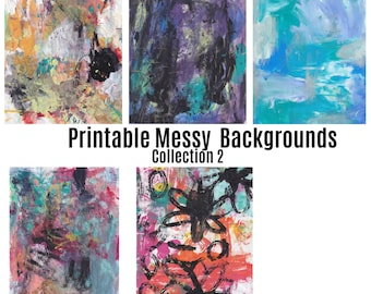 Printable Messy  Painted Backgrounds Collection 2/Digital Paper/scrapbook paper/Printable Background