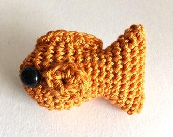 Crochet Pattern - No Fuss Fish, amigurumi goldfish pattern inc US and UK PDFs and photo guide