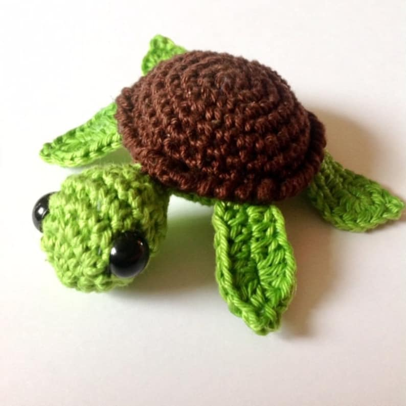 No Fuss Turtle Turtle Crochet Pattern Amigurumi Turtle Etsy