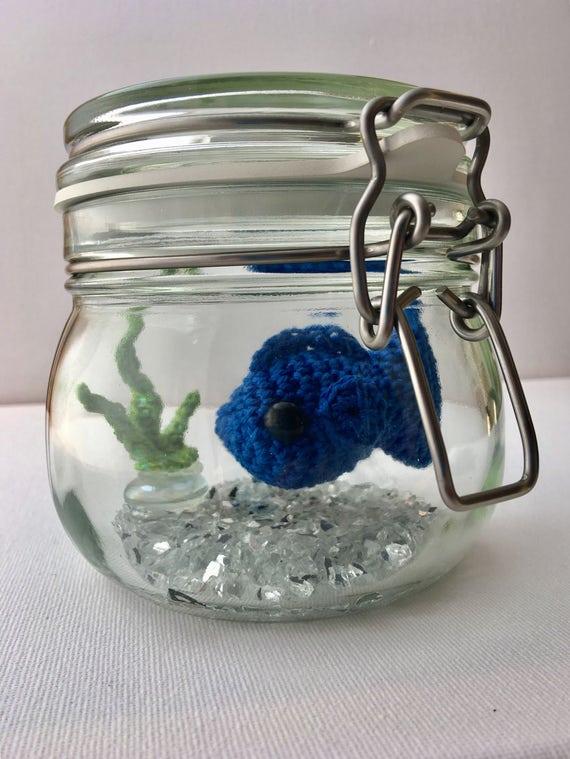 Kein Stress Fisch Königsblau Häkeln Amigurumi Goldfische Im Etsy