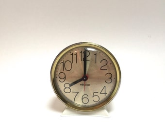 Westclox Alarm Clock - Gold with Large Numbers