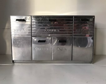Charmant Vintage Chrome Canister Set   Garner Ware   Retro Kitchen Canister   Mid  Century Modern Kitchen Decor