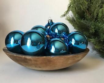 14 shiny blue christmas balls christmas tree ornaments crafts holiday decor - Blue Christmas Balls