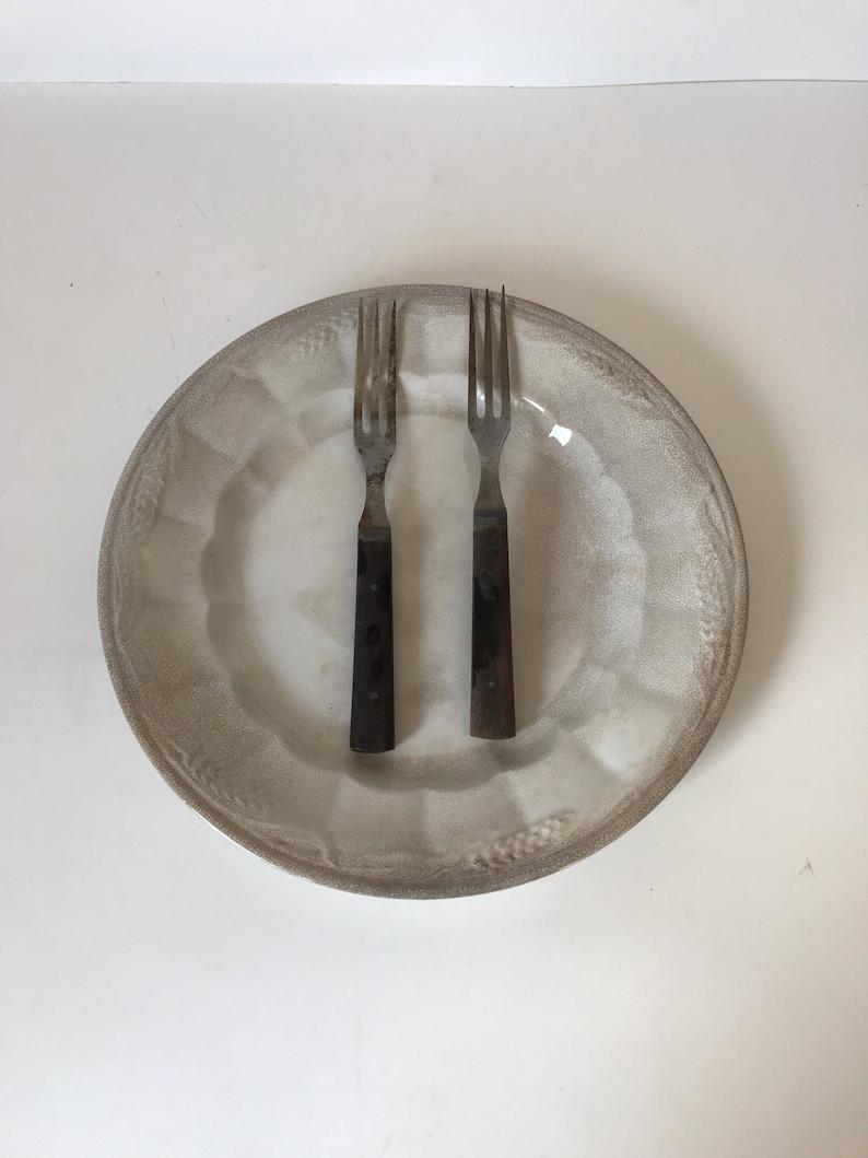 Wood Handled Forks * Antique Silverware * Primitive Flatware * Civil War  Forks * 3 Tine Forks * Vintage Forks * Rustic Cooking Utensils
