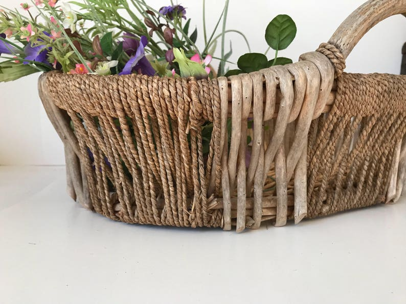 Handmade Twig Basket Easy To Use Home Arts & Crafts