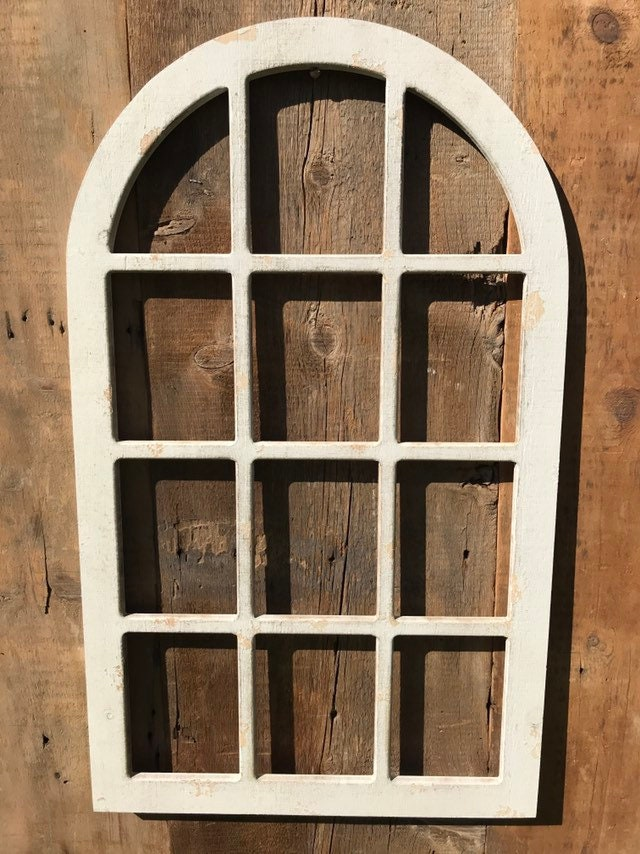 White Farmhouse Window Frame Wall Decor