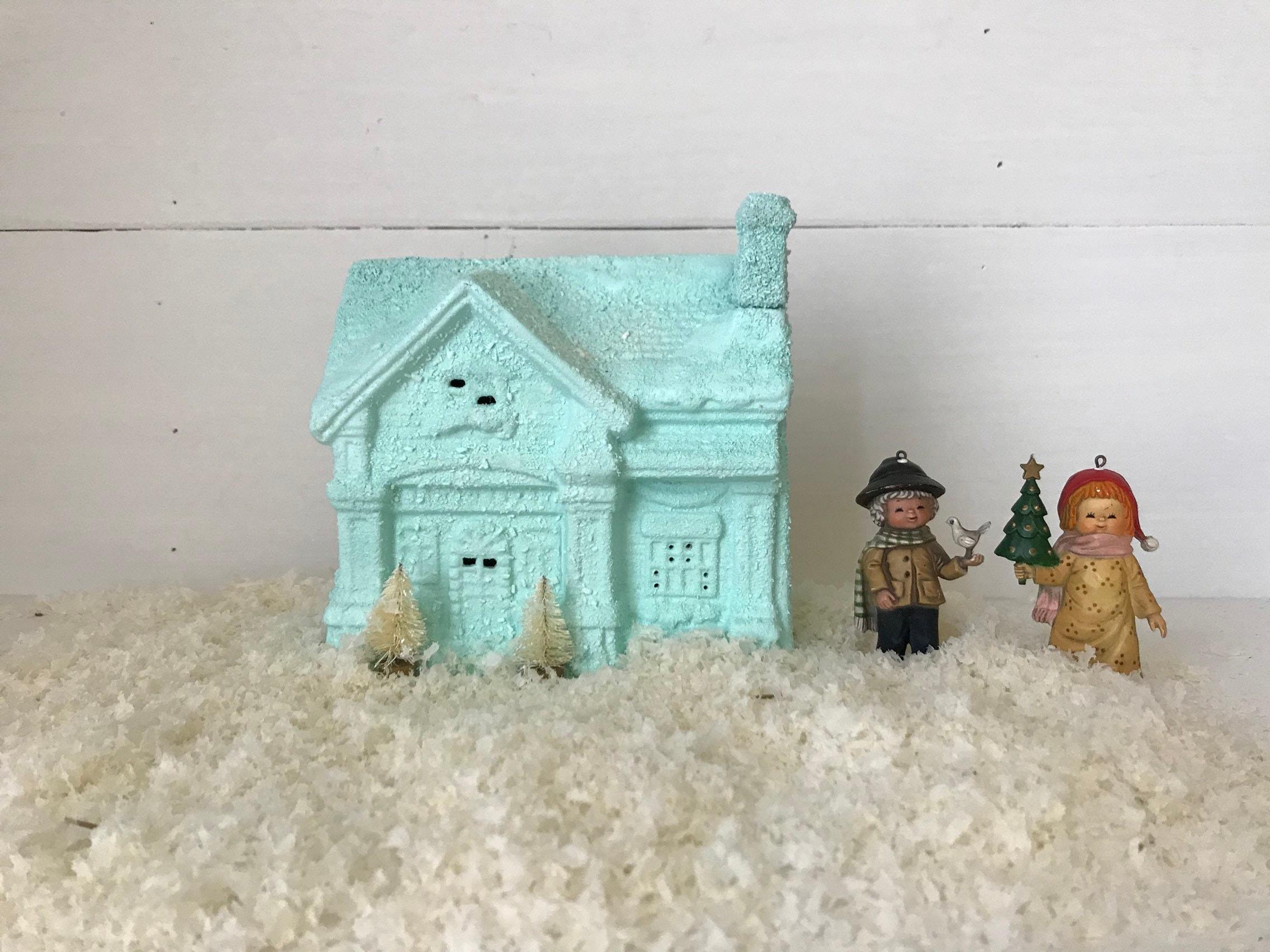 Vintage Pastel Lighted Christmas House Pastel Christmas Decor