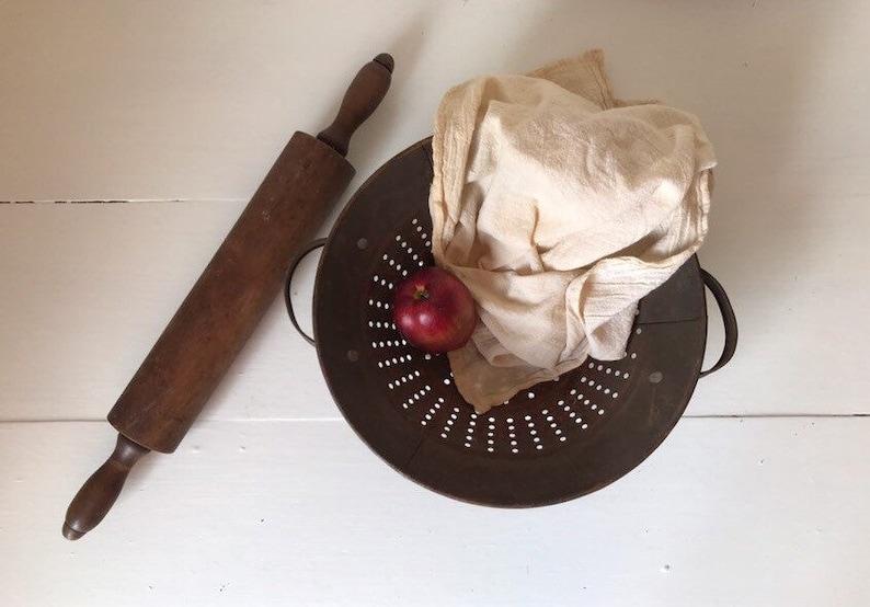Rustic Farmhouse Kitchen Primitive Colander Strainer