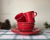 Fiestaware Dishes Red - Place Setting for 2