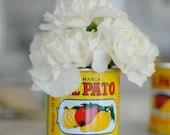 Fiesta Decorations El Pato 6 Large metal cans unique DIY Flower table decor arrangements rehearsal dinner potluck picnic meetings showers