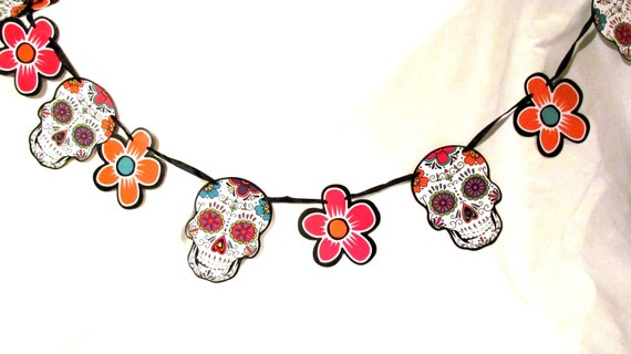 Fiesta Decorations For Wedding Shower Garland Sugar Skull 6