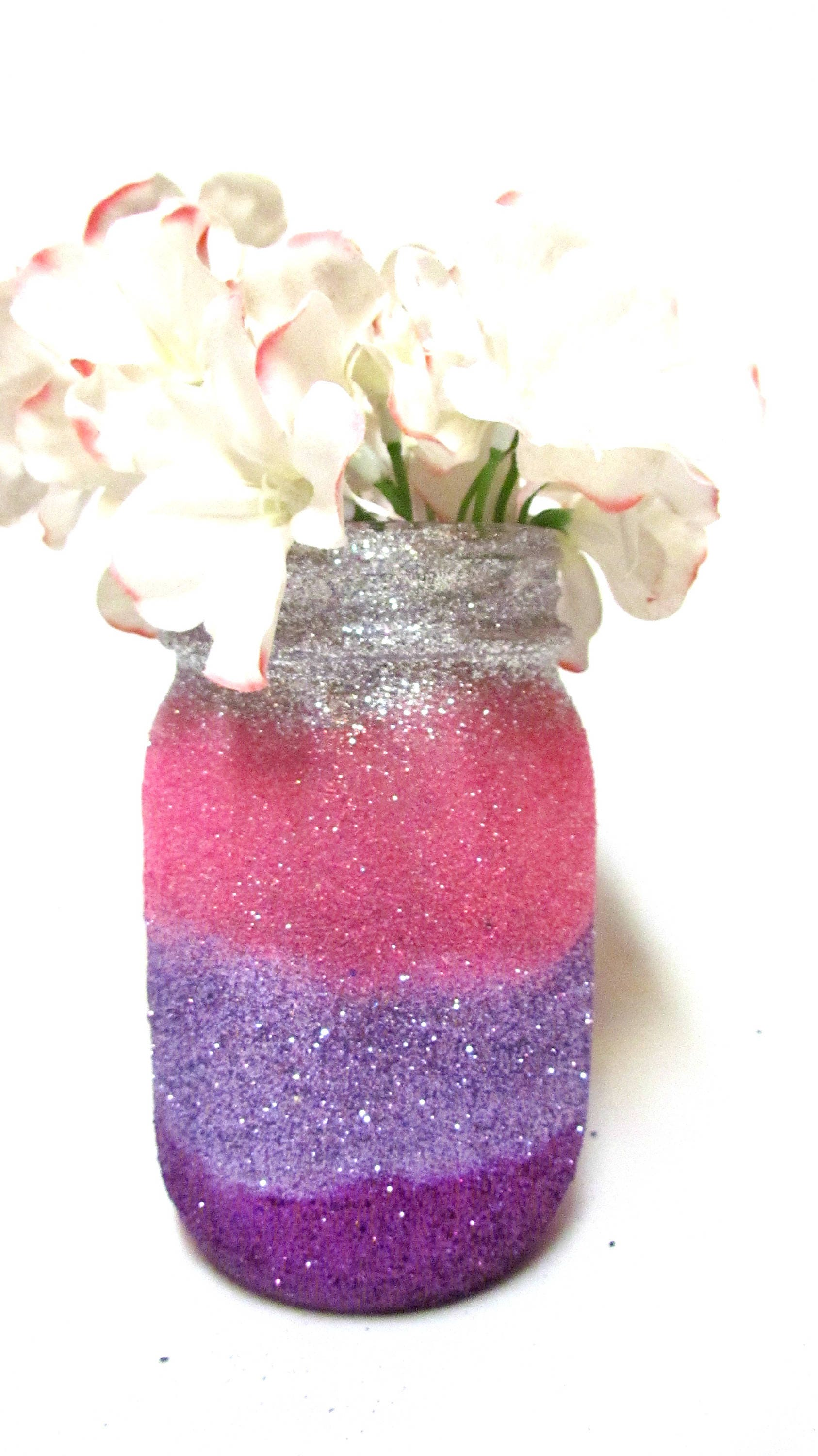Unicorn Centerpieces Glitter Mason Jars Pick your size and | Etsy