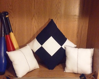 Black/White 3pc. Checked Embroidered Pillow Set