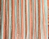mint coral lace fabric gold Sparkle Sequin Wedding ceremony stage Photo Prop Baby Shower curtain backdrop,nursery Curtain