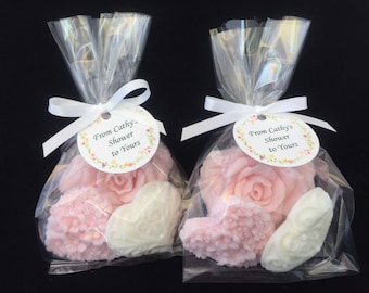 rose and heart soap favors set of 10 bridal shower favors wedding soap favors shower soap favors soap party favors