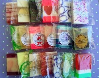 Mini Soap Sample Set - Mini Soap Grab Bag - Assorted Soap Samples - Seaside Soap Kitchen Mini Sample Set