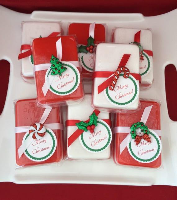 Christmas Party Favor Ideas.Christmas Soap Favors Set Of 10 Christmas Party Favors Holiday Party Favors Christmas Work Gift Christmas Gift Stocking Stuffer