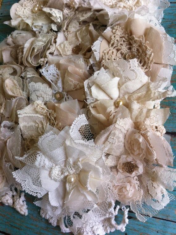 Shabby Chic Wedding Decorations Mason Jar Flowers Bridal Etsy