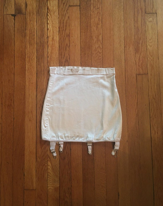 50's Cream/Blush Pink Garter Belt /Girdle by Style