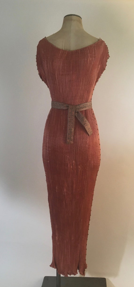 1910-1920 Mariano Fortuny Salmon Pink Delphos Gow… - image 4
