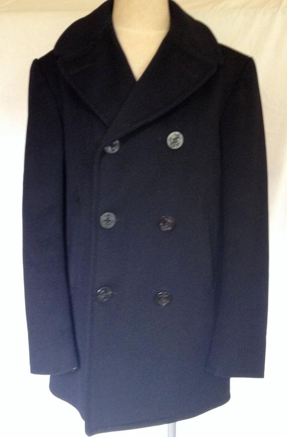 Vintage 1966/60s Authentic USN Wool Navy Pea Coat/