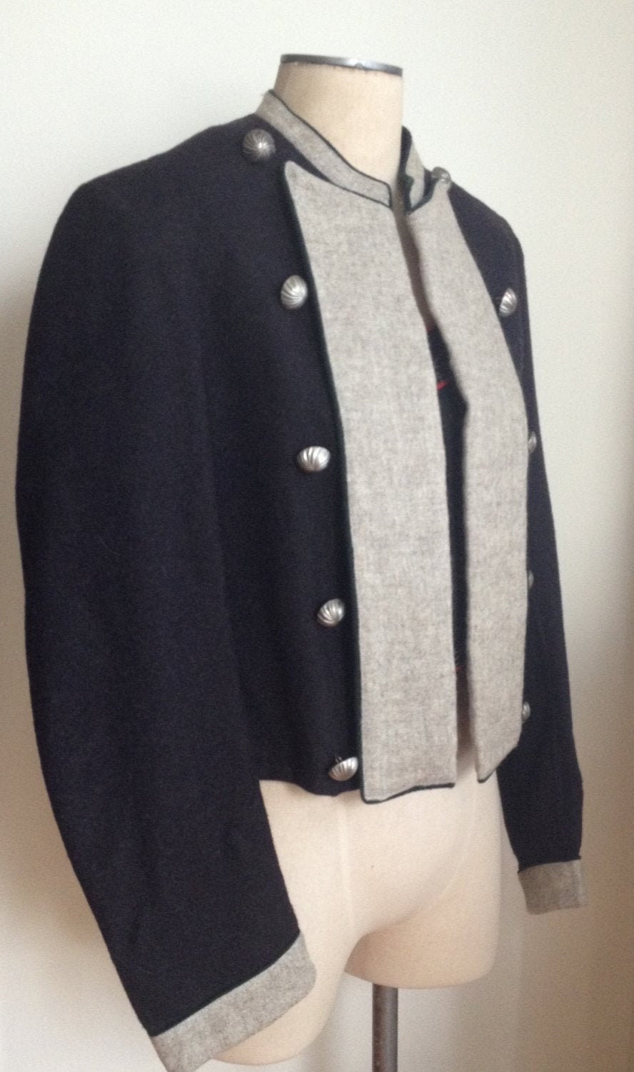 New 1930s Mens Fashion Ties 1930S Mens Lanz Of Salzburg Austrian Trachten Wool Military Style Jacket With Leather InsertMint ConditionLanz Austria $16.00 AT vintagedancer.com