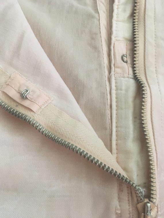 1950s Blush Pink Satin & Lace Garter Belt - image 8
