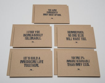Funny Love Cards Set