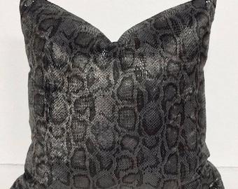 Faux Snakeskin Decorative Pillow Cover, Pillow, Pillowcase
