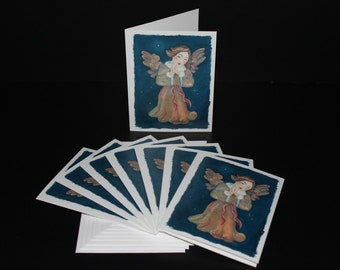Cards - Chapel Angel - Pack of 8 with Envelopes, Story Insert, and Plastic Sleeve
