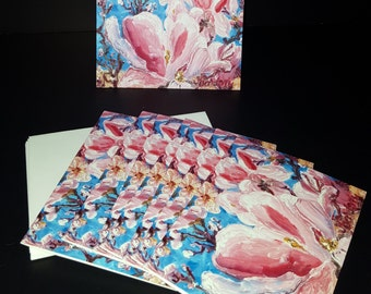 Cards - Tulip Trees - Pack of 8 with Envelopes, Story Insert, and Plastic Sleeve