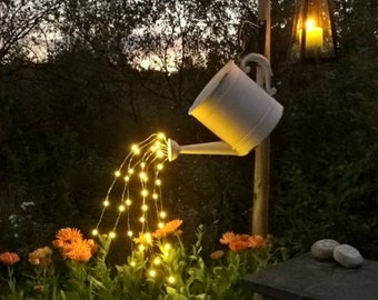Waterfall Fairy Lights (For Watering Can Decor) - Five Strands, 100 or 150 Warm White LEDs total. Lights only - Watering Can not included.