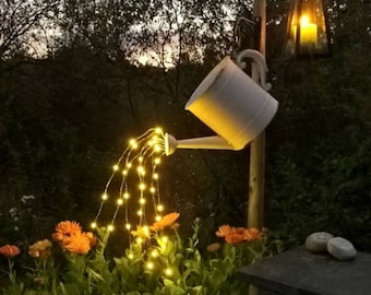 Waterfall Fairy Lights (Watering Can Lights) - Six 6-Ft Strands, 20 Warm White LEDs per strand (120 total). Timbo Lights, Small Tree Lights.
