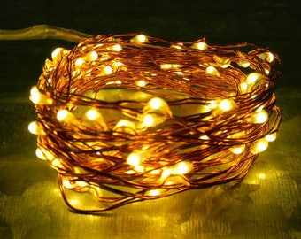 e52b8b41c3fd 300 Fairy Lights, 49-feet of wire in copper or silver. Power options  include a Waterproof D pack, USB, or 110V Plug-in. Indoor or Outdoor.