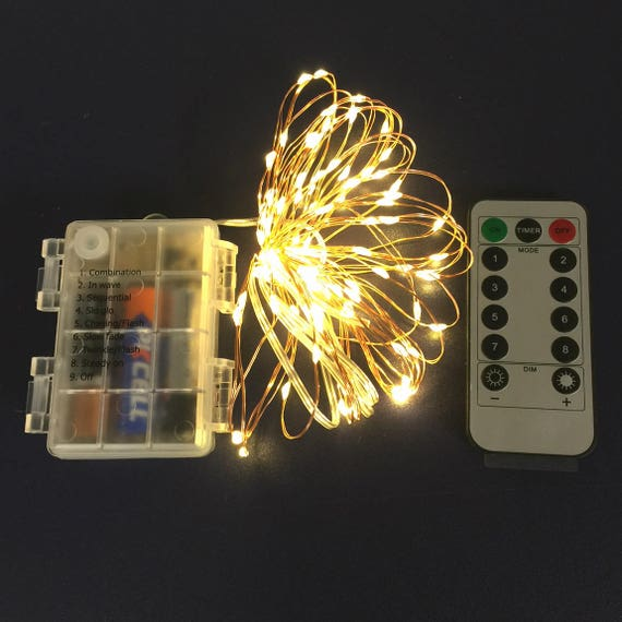 Remote Controlled Fairy Lights For Home Decor Lights 100 50 Etsy