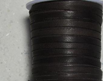 Angora Lace 3 mm x 25 meters. (82 feet) dark brown