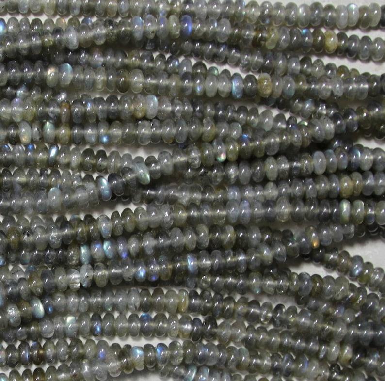 2mm large hole bead 8 mm rondelle smooth Labradorite