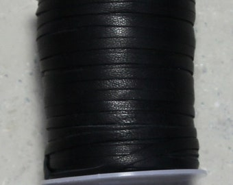 3mm black Angora lace 25 meters  / 82 ft.