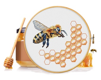 Cross Stitch Bee Needlepoint Patterns Queen Bee Cross Stitch Bees by NewYorkNeedleworks on Etsy Queen Bee Cross Stitch Bee Pattern