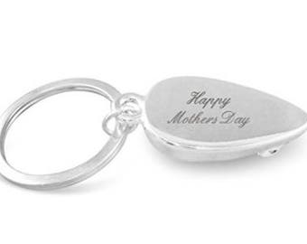 689a85f3b358 Happy Mother s Day engraved chrome mouse keyring - personalised for you