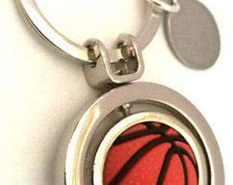 Basket ball personalised keyring with gift pouch BR379 Custom Engraved