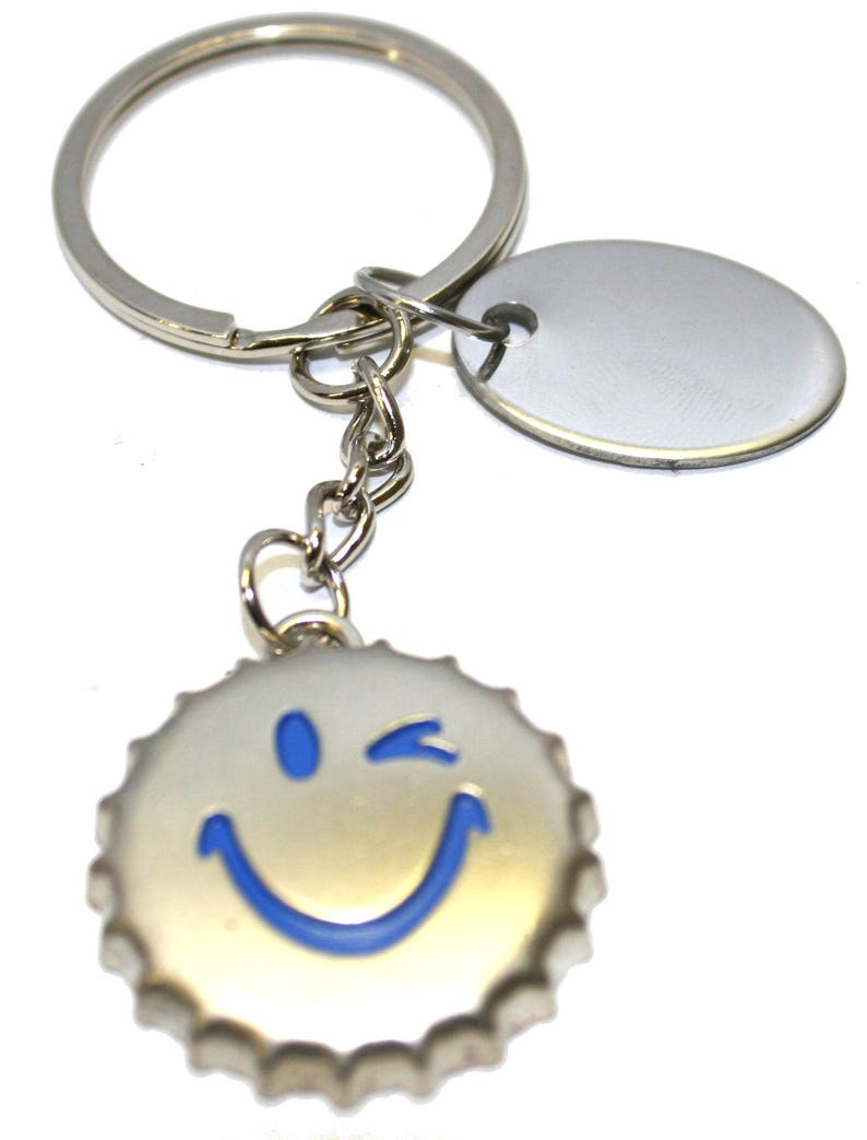 personalised metal large foot keyring in gift pouch BR569 Engraved