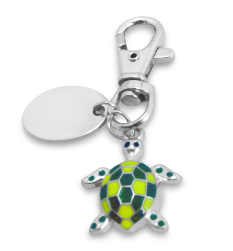 handbag charm with crystals BR411 Engraved personalised smart frog keyring
