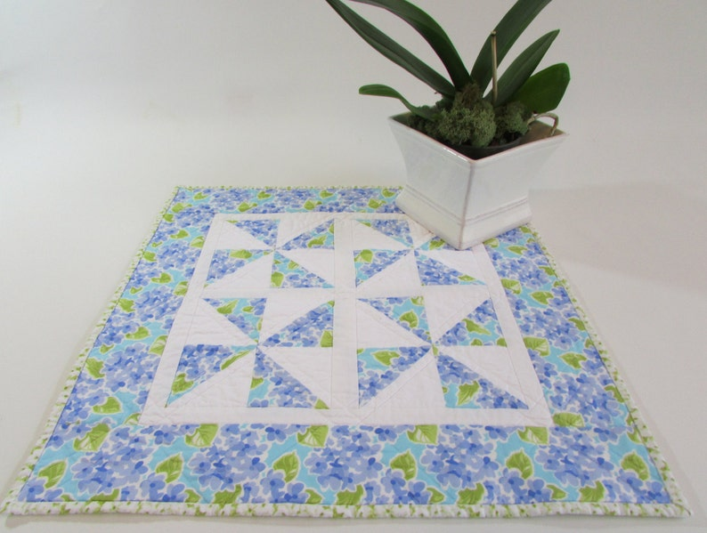 Bring a blue floral spot of color to your Kitchen Island Kitchen Island Topper