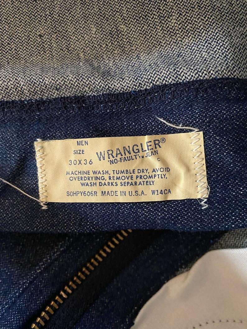 1970/'s Like New Wrangler No Fault Dark Indigo Bootcut Flared Leg Western Style Jeans 30x36