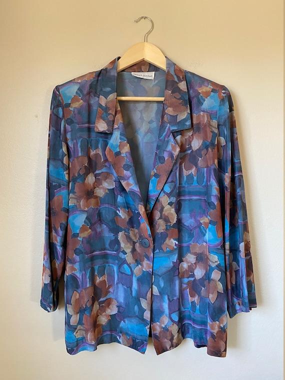 1980's Kenneth Mitchell Rayon Oversized Blazer w/